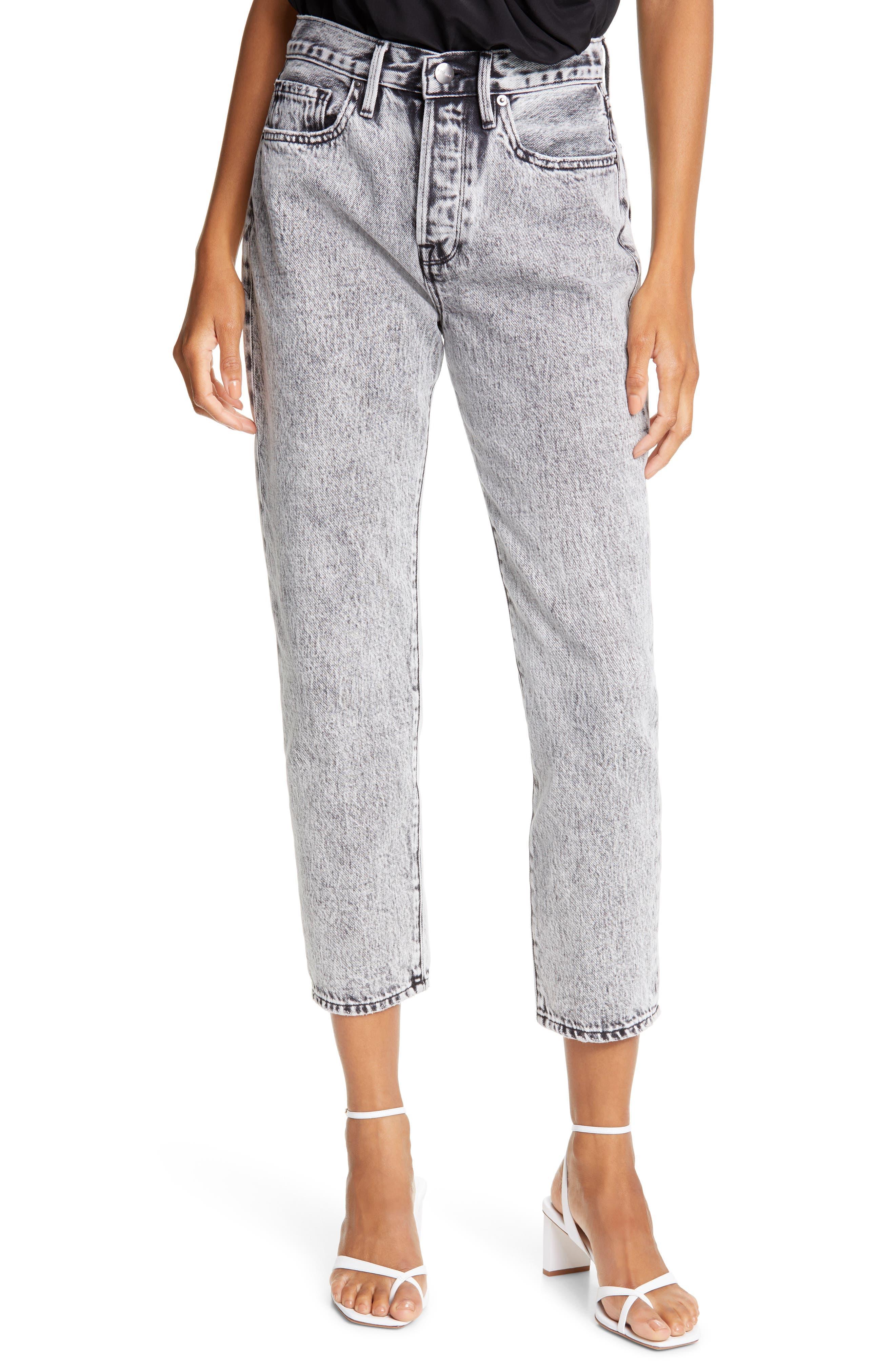 FRAME Le Original High Waist Straight Leg Jeans (Vendome)   Nordstrom