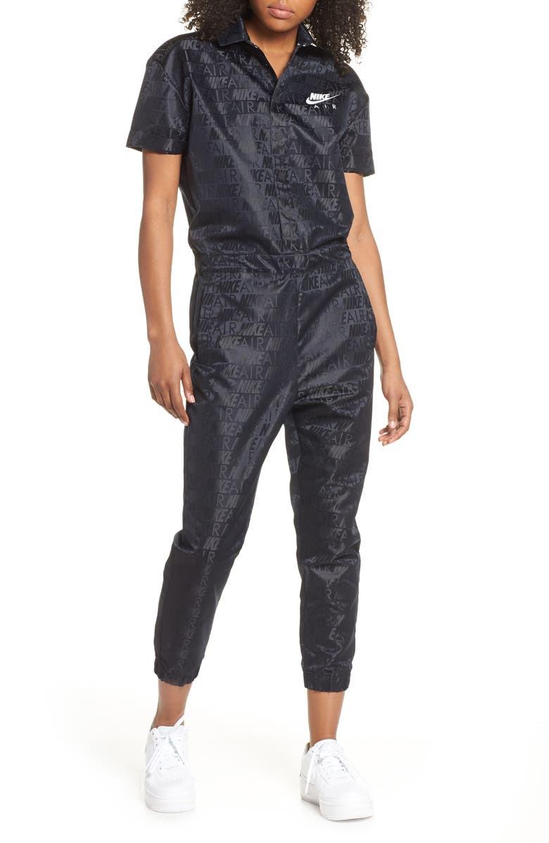 super popular bc0eb 24999 Sportswear Air Jumpsuit, Main, color, BLACK