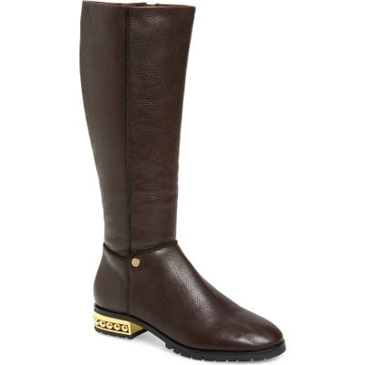 Karl Lagerfeld Paris Seine Knee High Boot, Brown