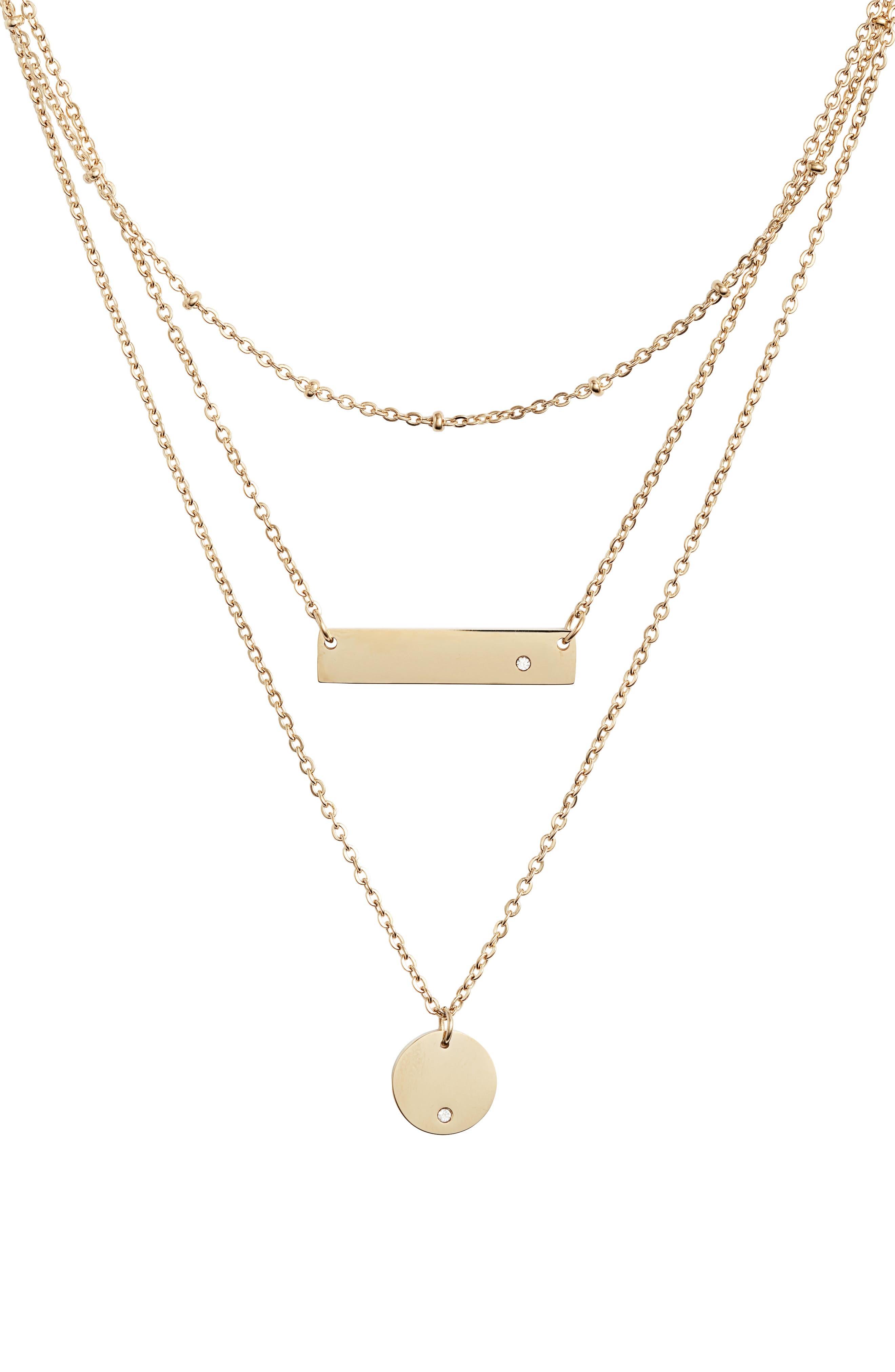 Multistrand Pendant Necklace