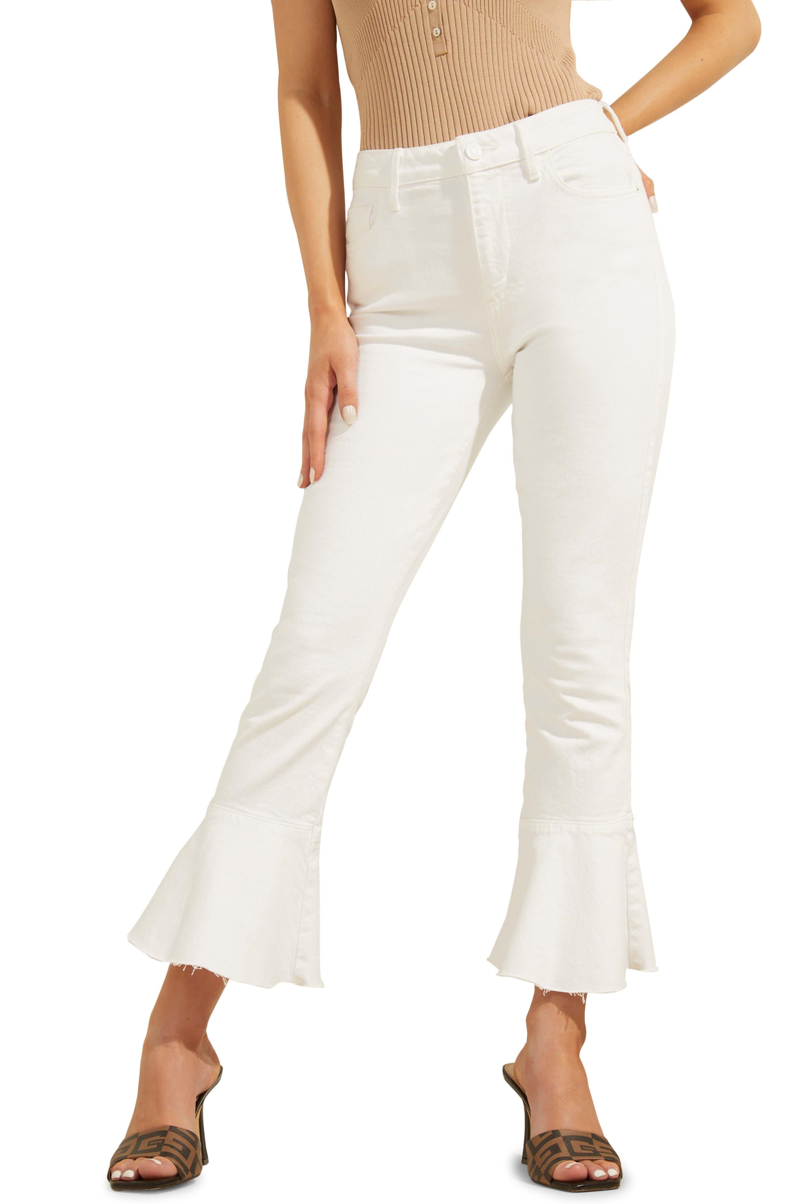 Ayla Kick Flare Crop Jeans