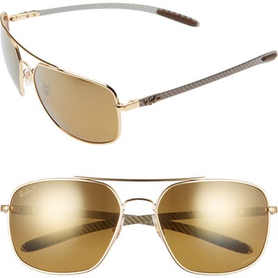 Ray-Ban 62Mm Polarized Aviator Sunglasses -