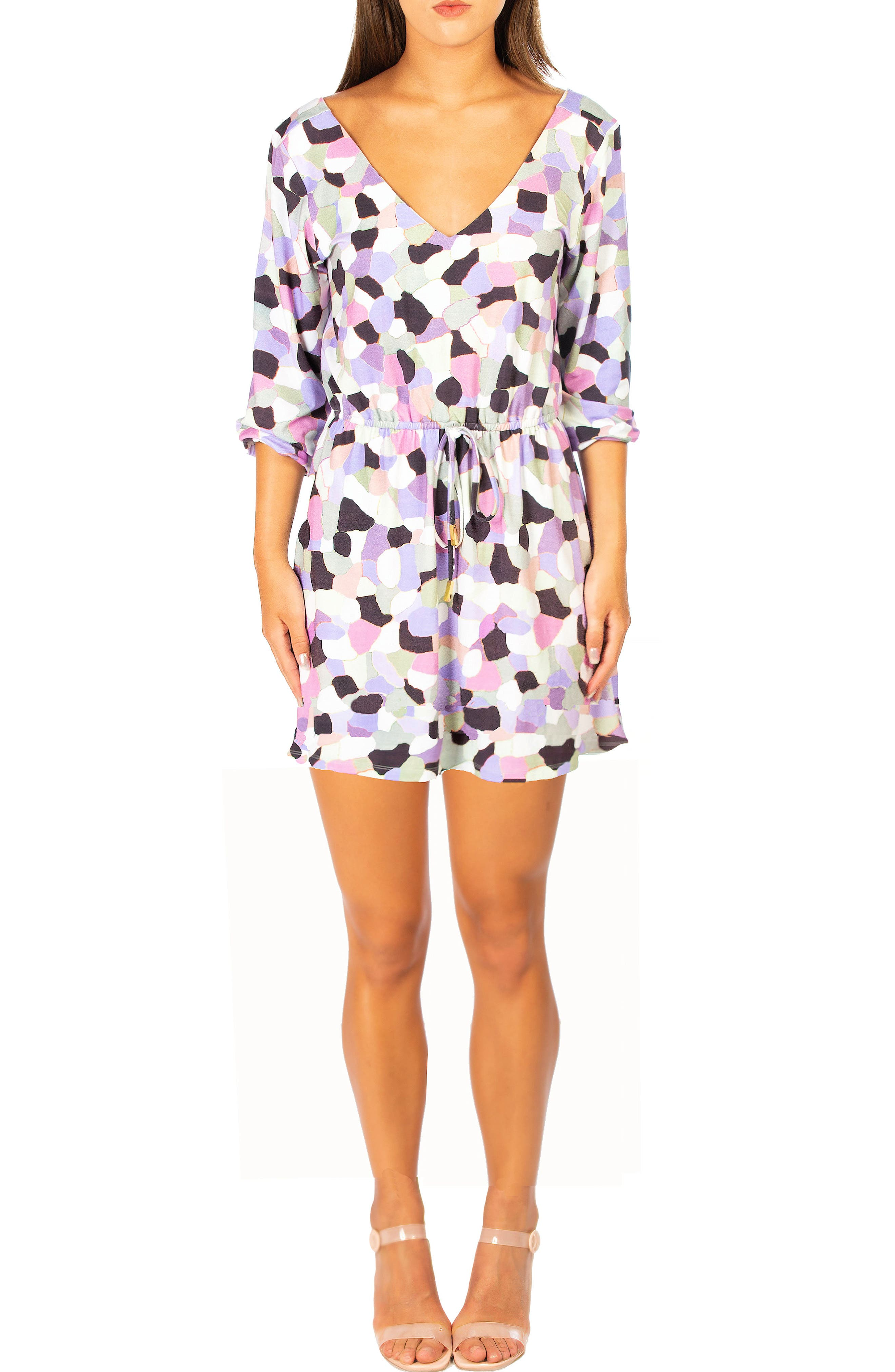 Zoii Print Drawstring Dress