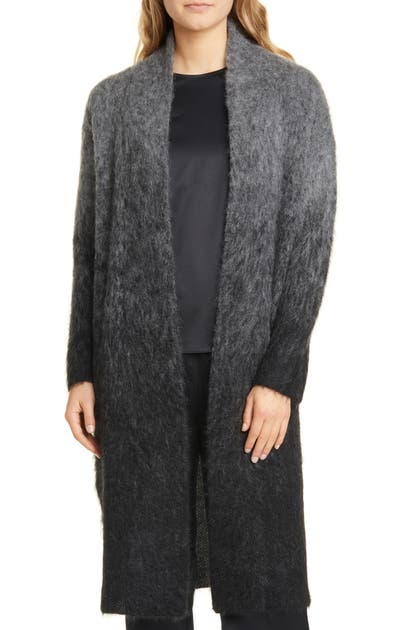 Eileen Fisher Tops OMBRE MOHAIR & ALPACA BLEND LONG CARDIGAN
