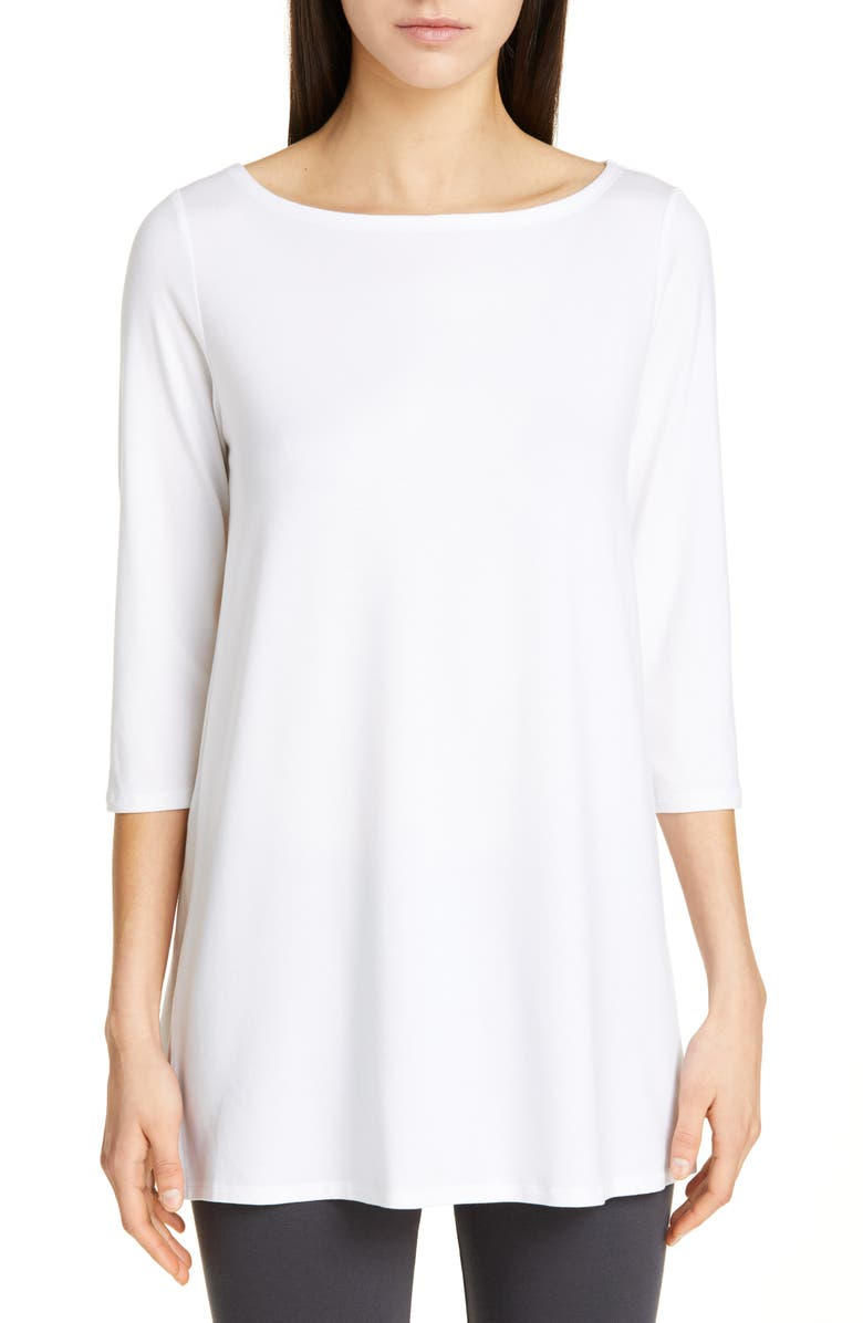 EILEEN FISHER Tunic, Main, color, WHITE
