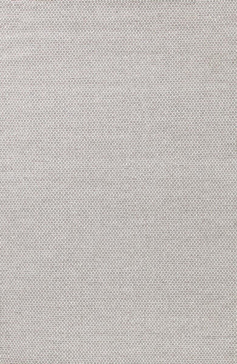 DASH & ALBERT 'Honeycomb' Wool Rug, Main, color, GREY/ IVORY