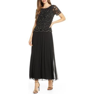 Pisarro Nights Beaded Mock Two-Piece Dress