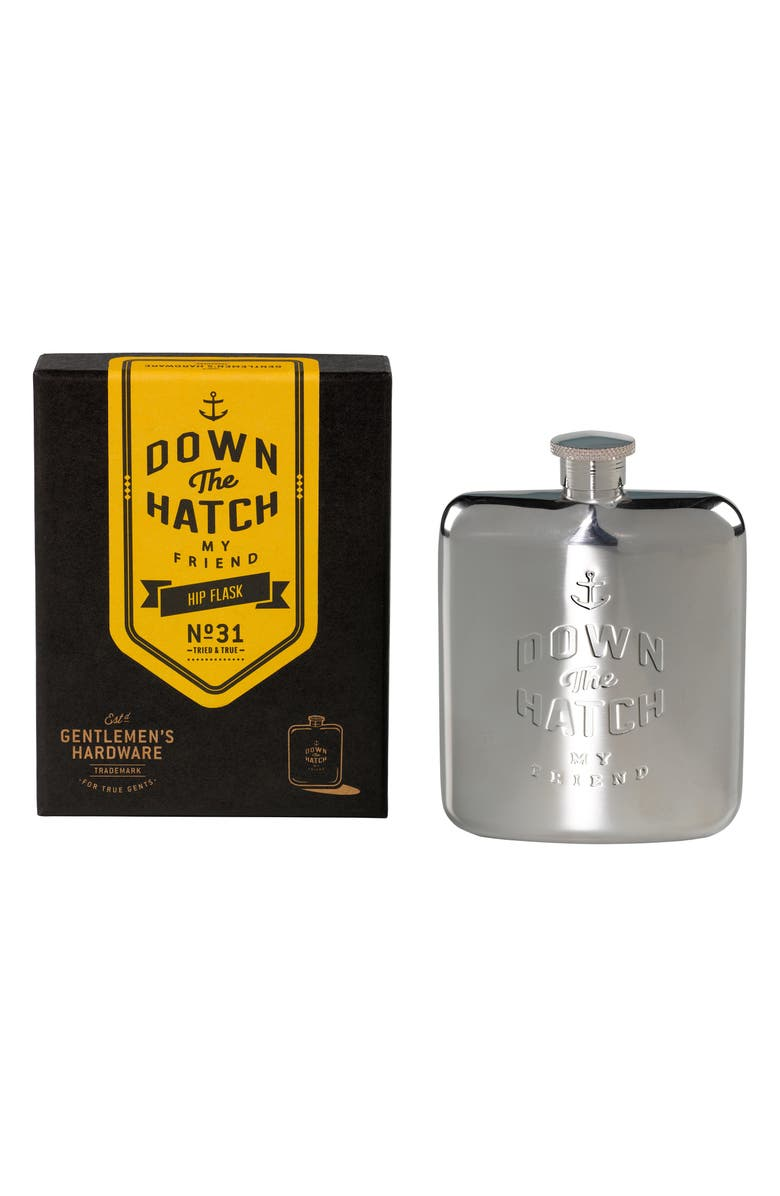 WILD & WOLF Hip Flask, Main, color, 040