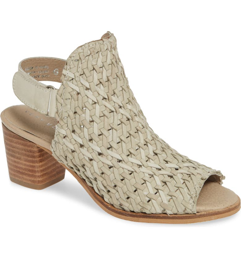 VERY VOLATILE Veronique Woven Slingback Sandal, Main, color, STONE LEATHER