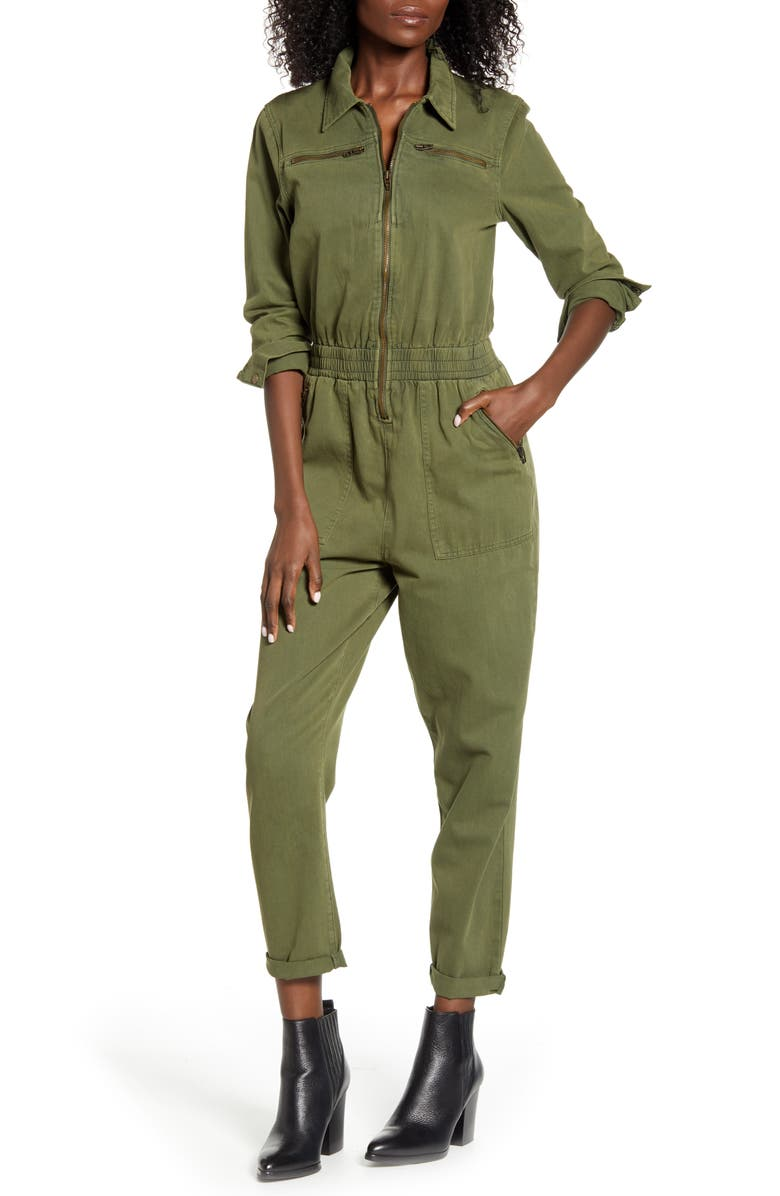 BLANKNYC Garment Dye Twill Utility Jumpsuit, Main, color, 300