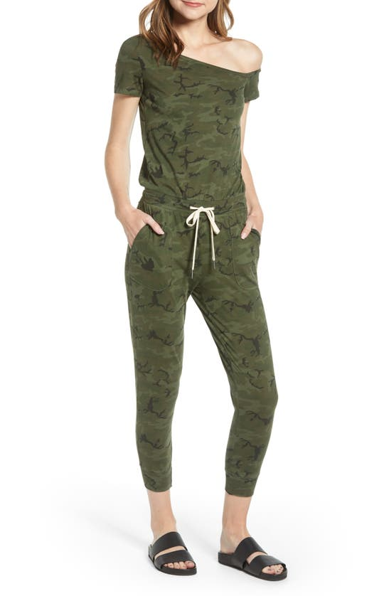 N:philanthropy Women's Britton One-shoulder Camo Jumpsuit In Moss Multi