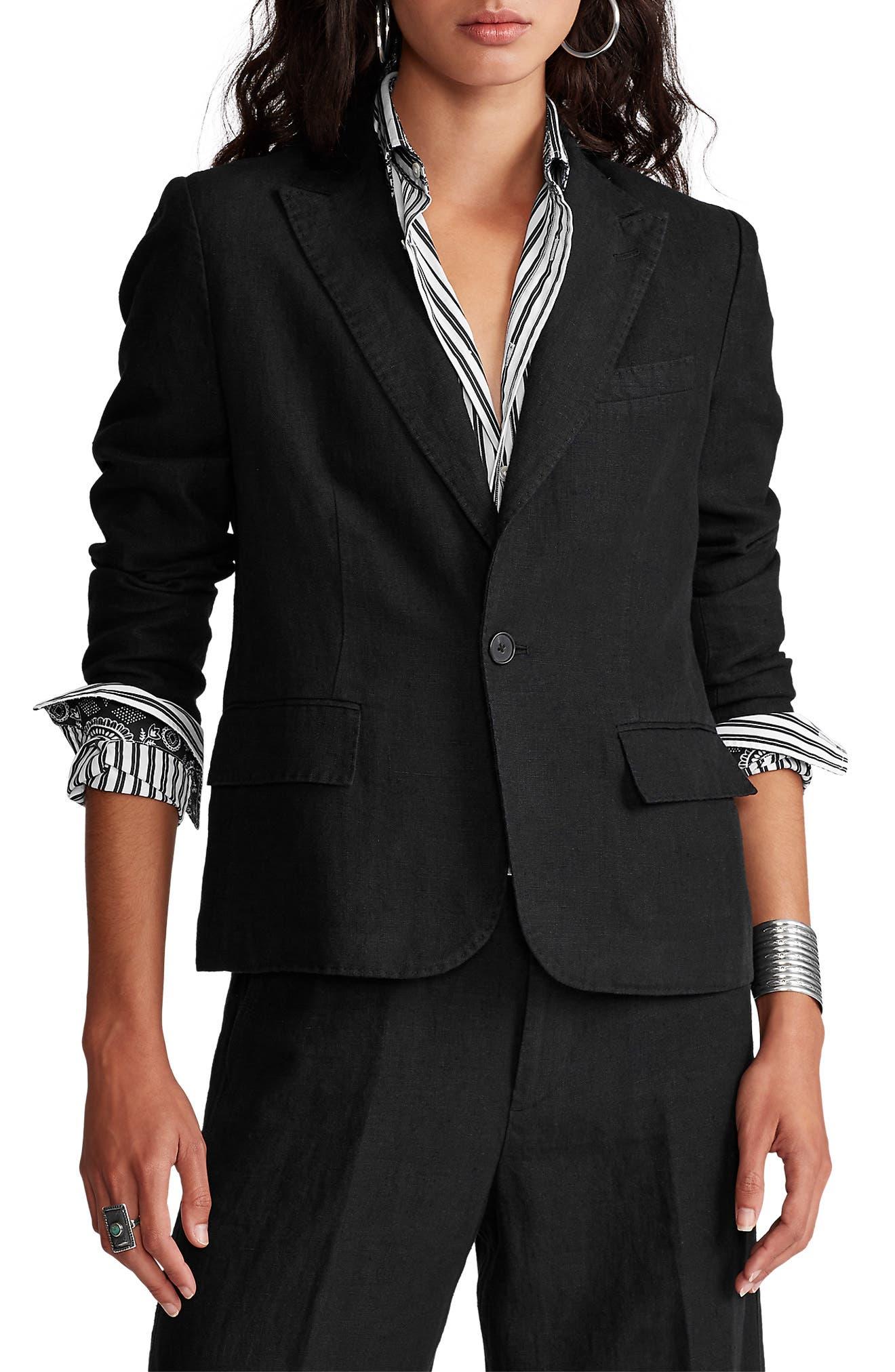 find Womens Fitted Linen Blazer Brand
