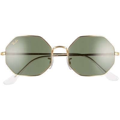 Ray-Ban 1972 5m Octagon Sunglasses - Gold/ Green Solid