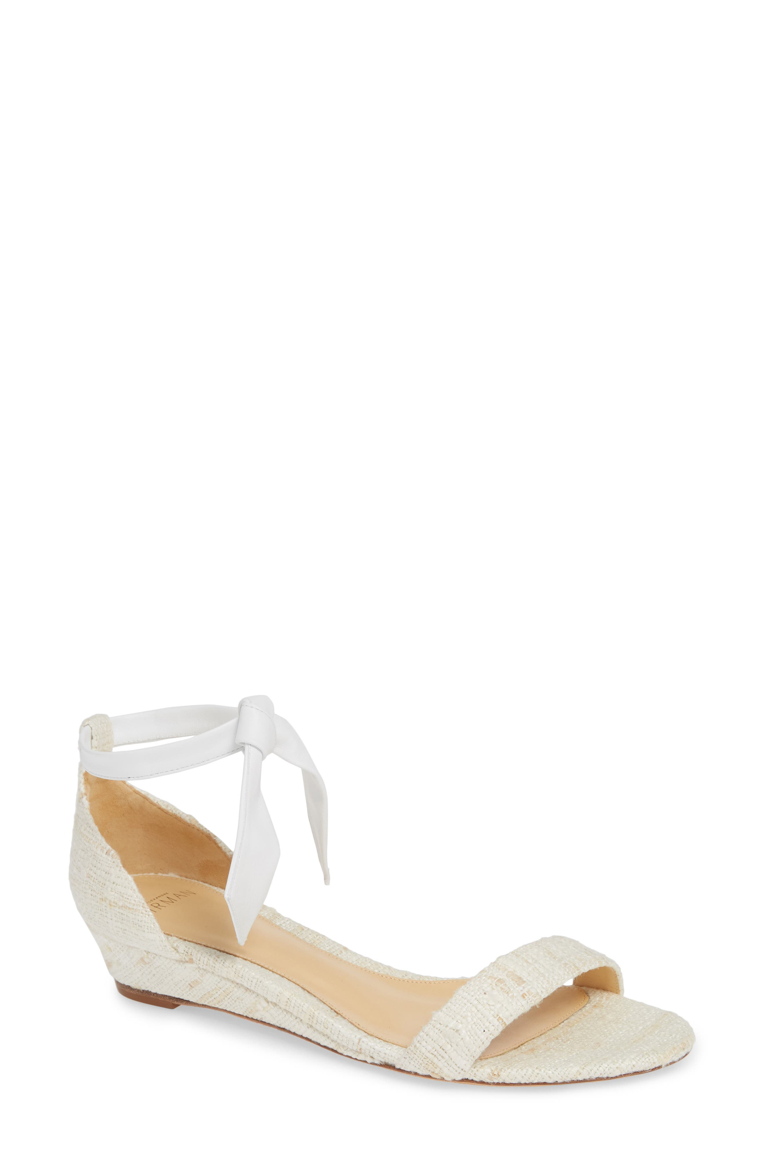 Alexandre Birman Clarita Wedge Sandal, White