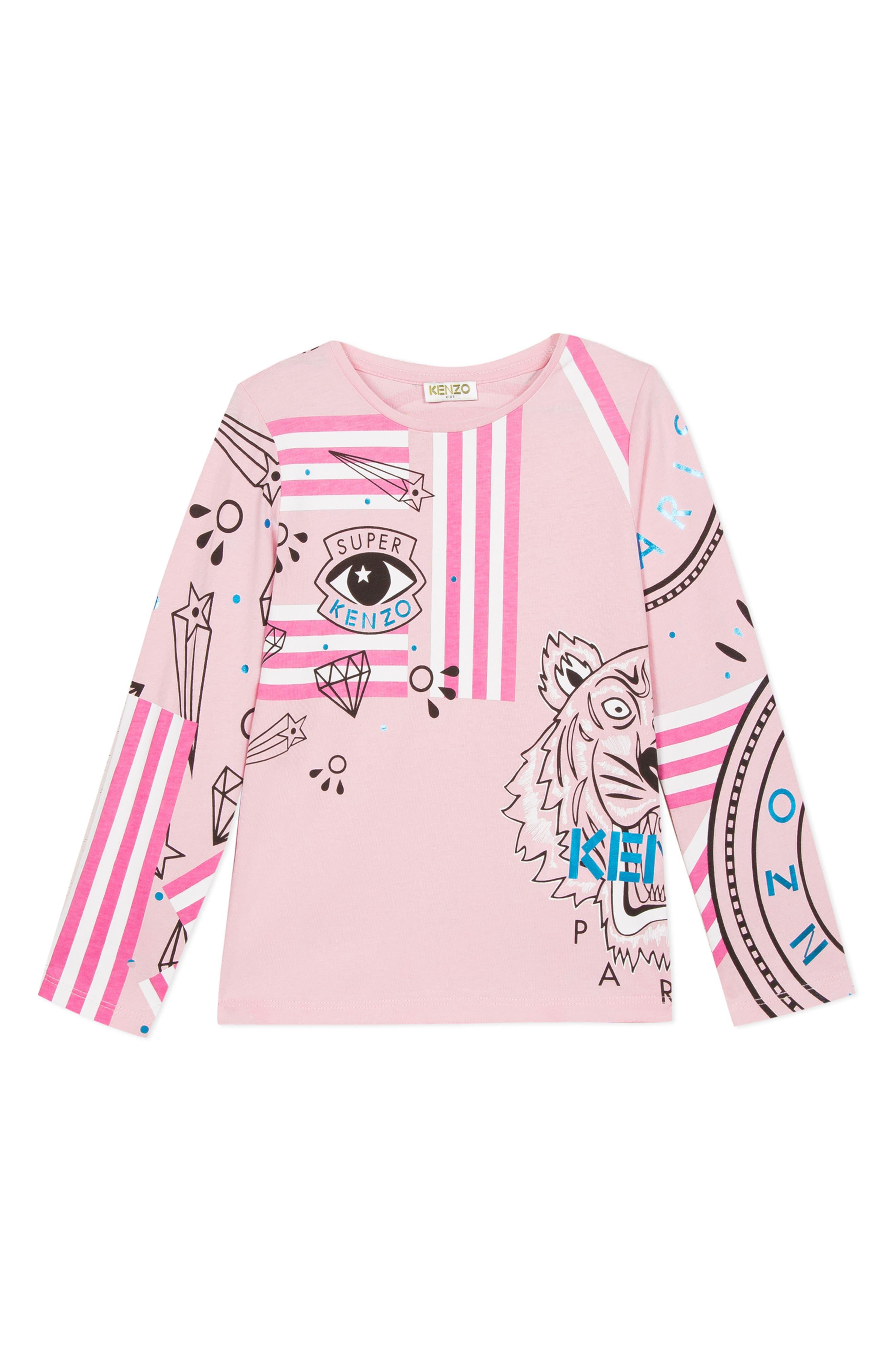 Toddler Girls Kenzo Iconic Eye Graphic Tee Size 2Y  Pink