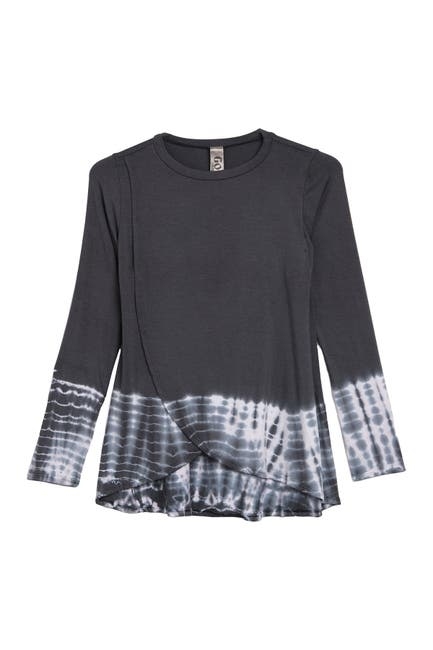 Image of Go Couture Wrap Front Basic Tunic Sweater