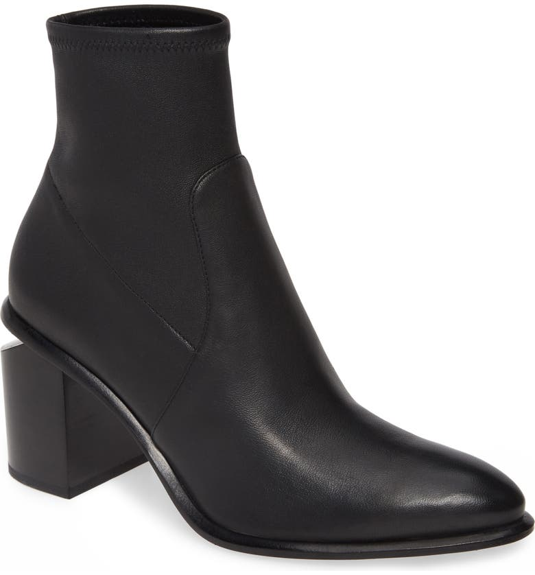ALEXANDER WANG Anna Stretch Bootie, Main, color, BLACK