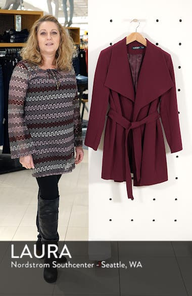Belted Drape Front Coat, sales video thumbnail