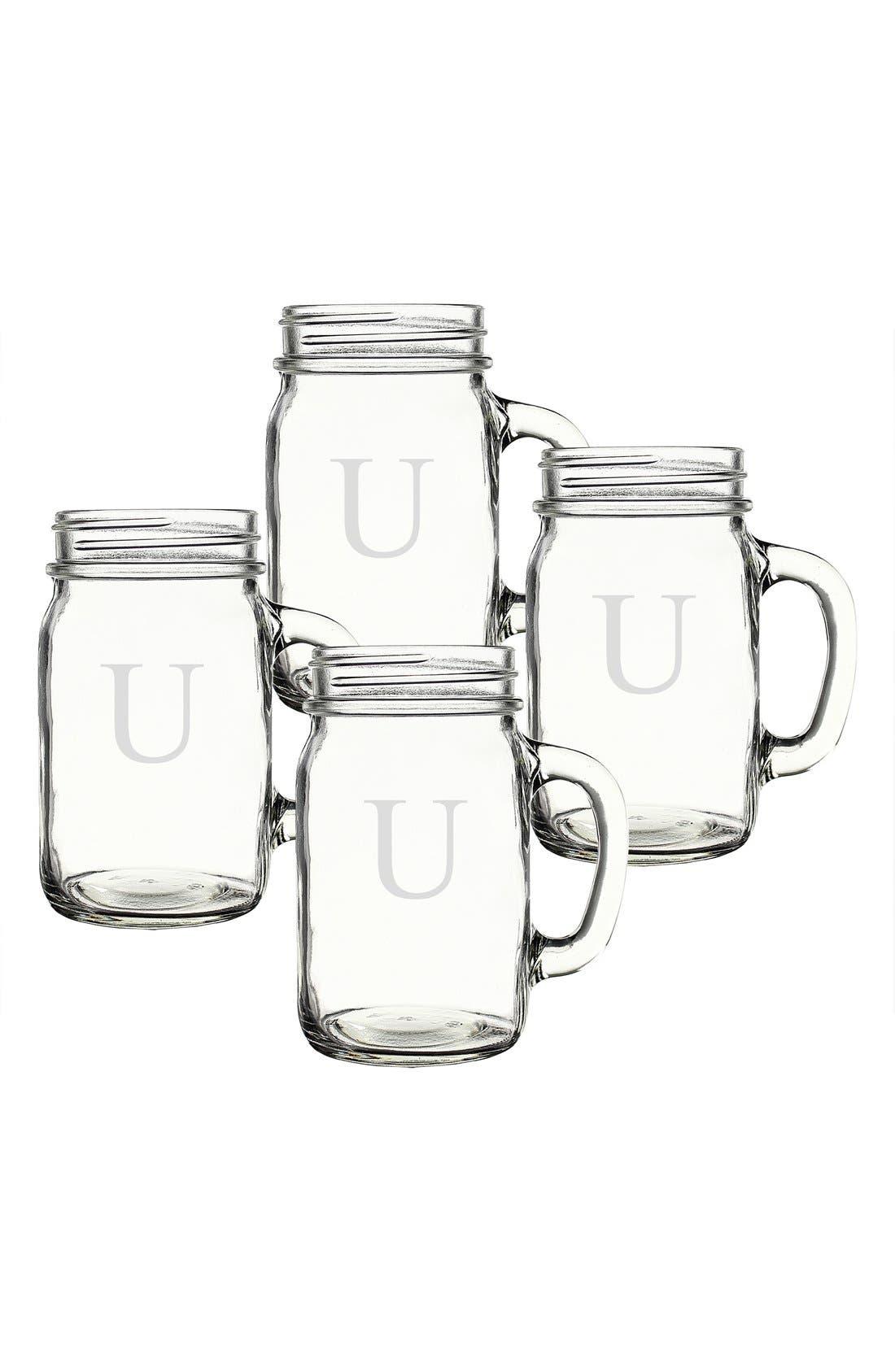,                             Monogram Glass Drinking Jars,                             Alternate thumbnail 67, color,                             980