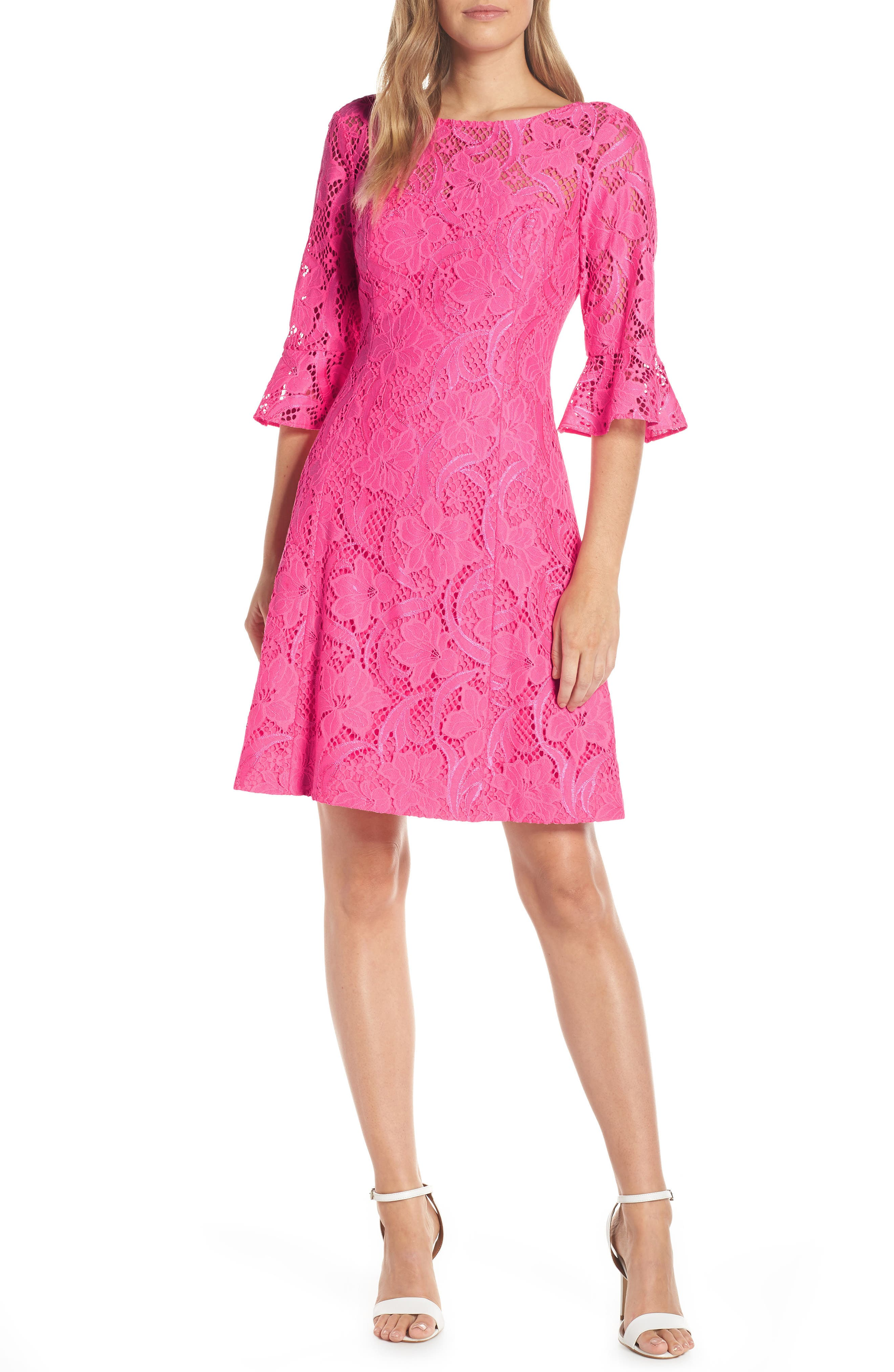 Lilly Pulitzer Allyson Lace Fit & Flare Dress, Pink