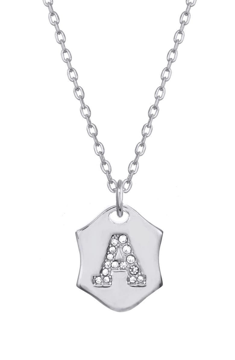 Stella Ruby Nom De Plume Initial Pendant Necklace