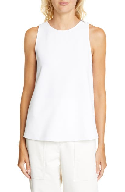 Tibi Tops TWIST BACK CREPE TANK