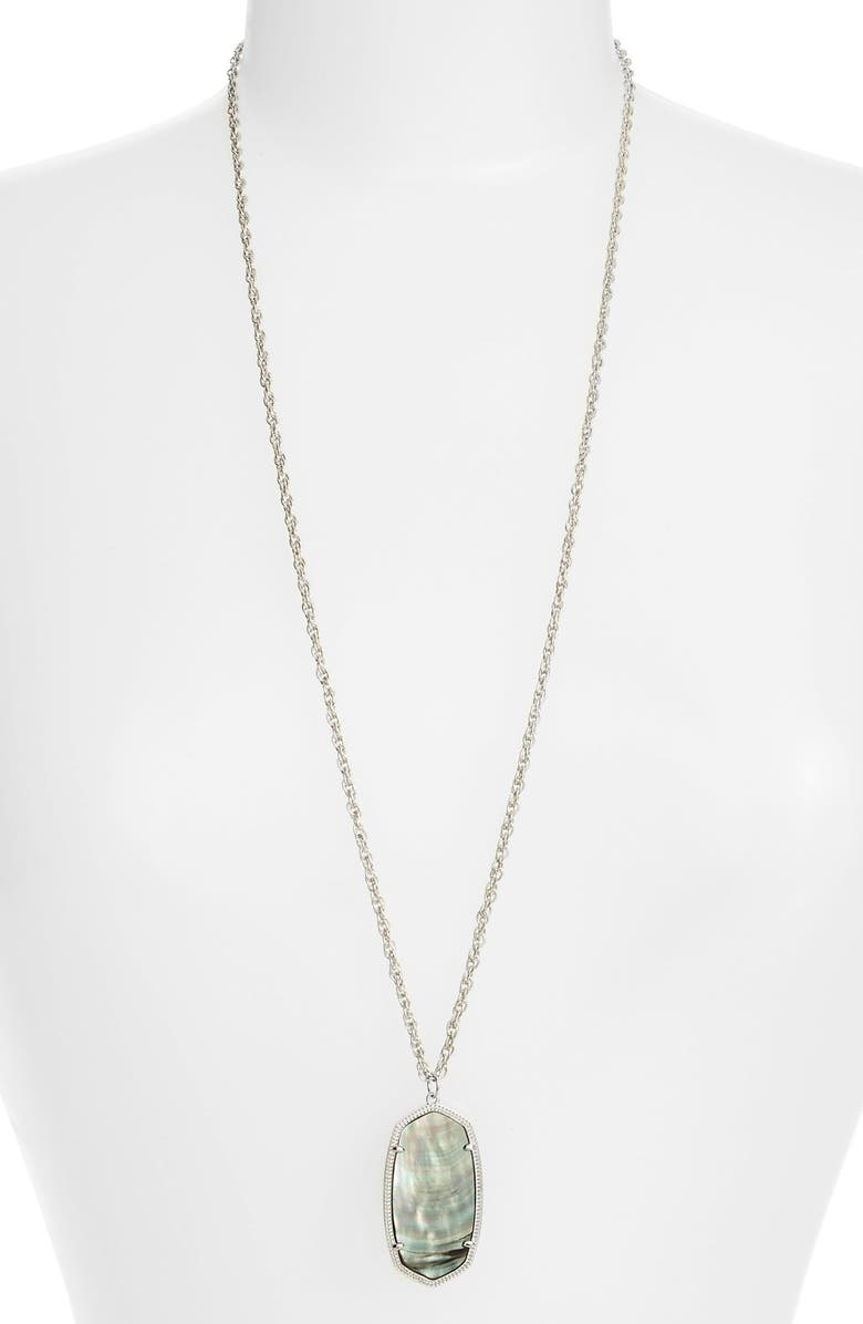 KENDRA SCOTT 'Rae' Pendant Necklace, Main, color, 001