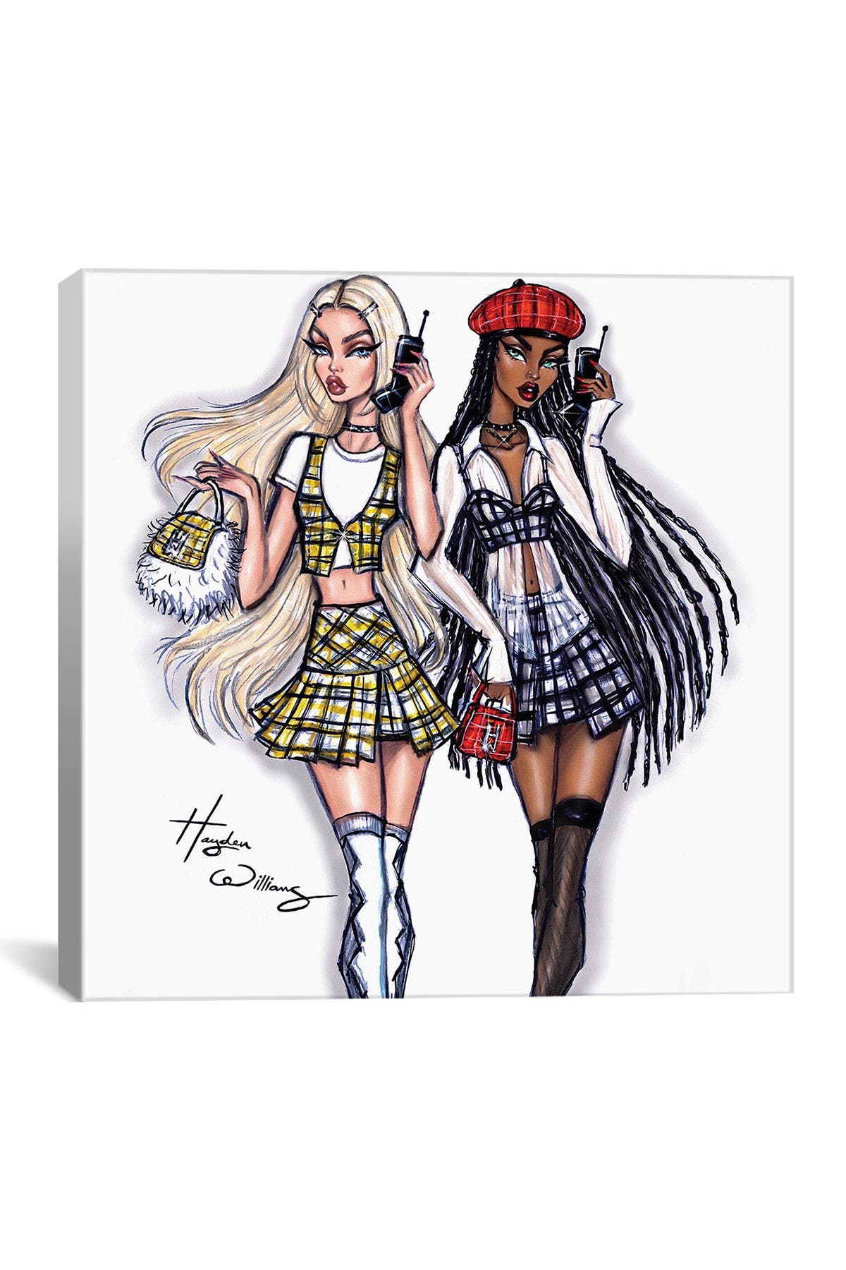 Image of iCanvas Clueless: Cher & Dionne by Hayden Williams