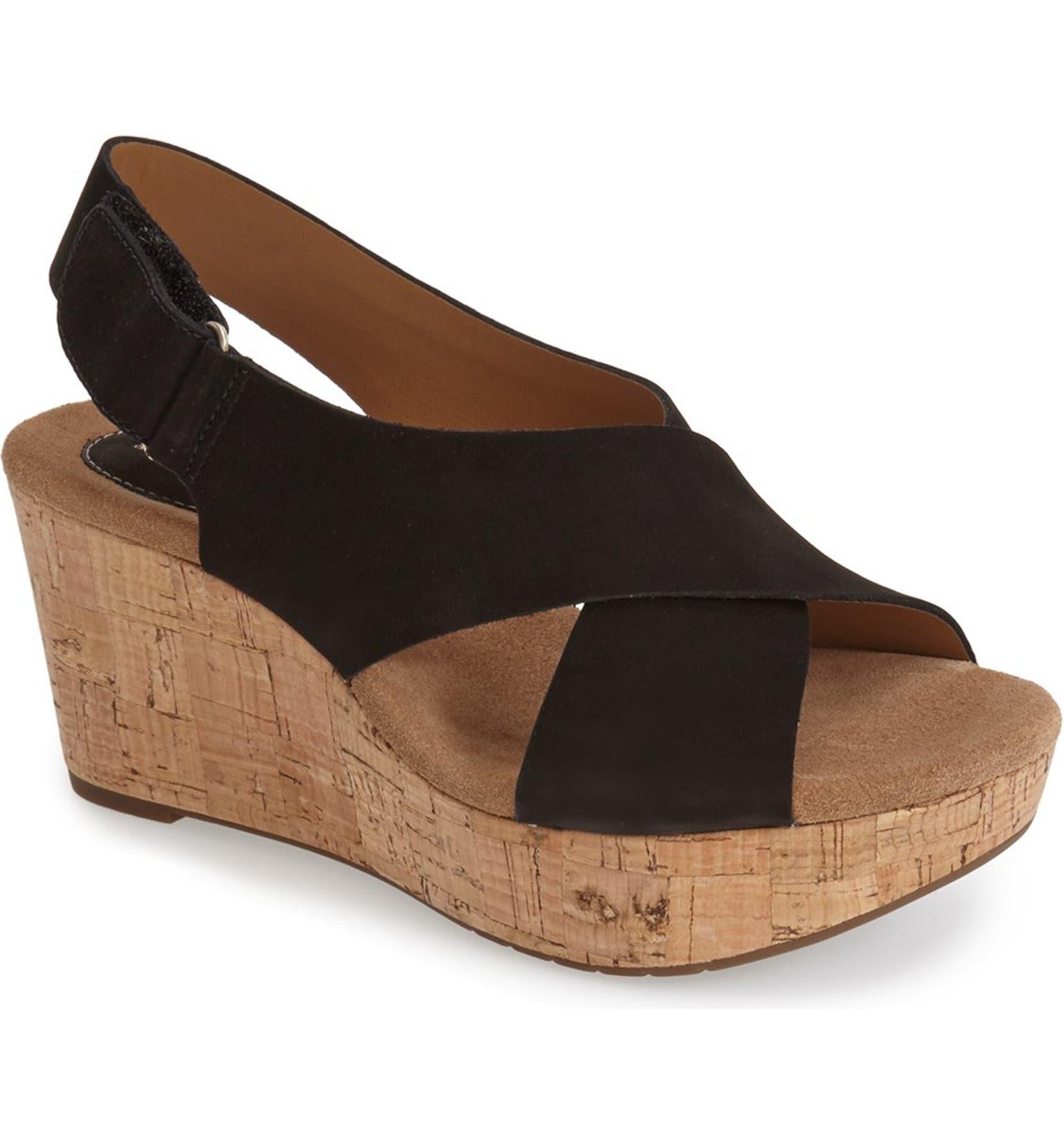 02a3f26b5a Clarks® 'Caslynn Shae' Wedge Sandal (Women) | Nordstrom