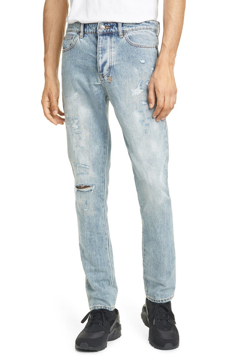 KSUBI Chitch Rekonize Ruins Ripped Skinny Fit Jeans, Main, color, 400