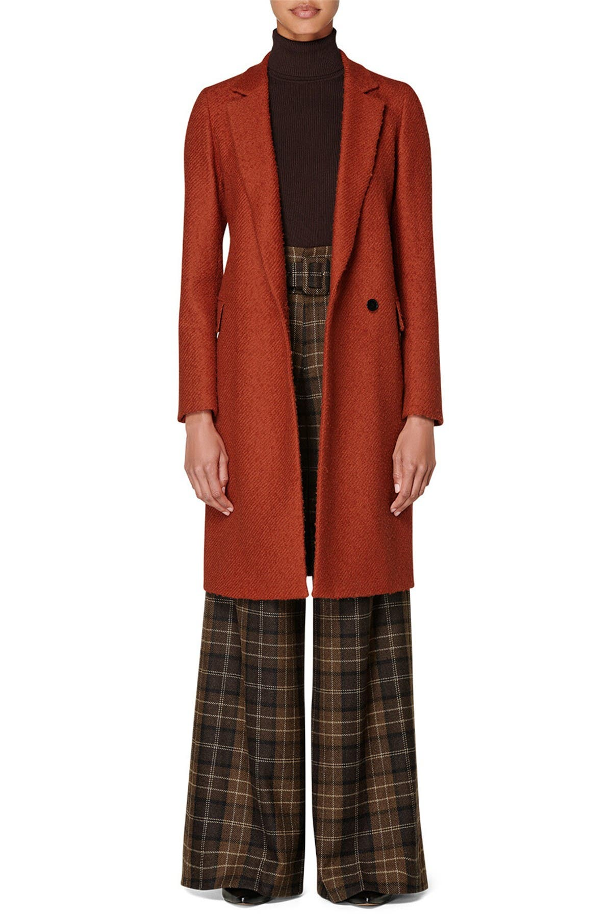 Image of SUISTUDIO Alia Wool Blend Coat