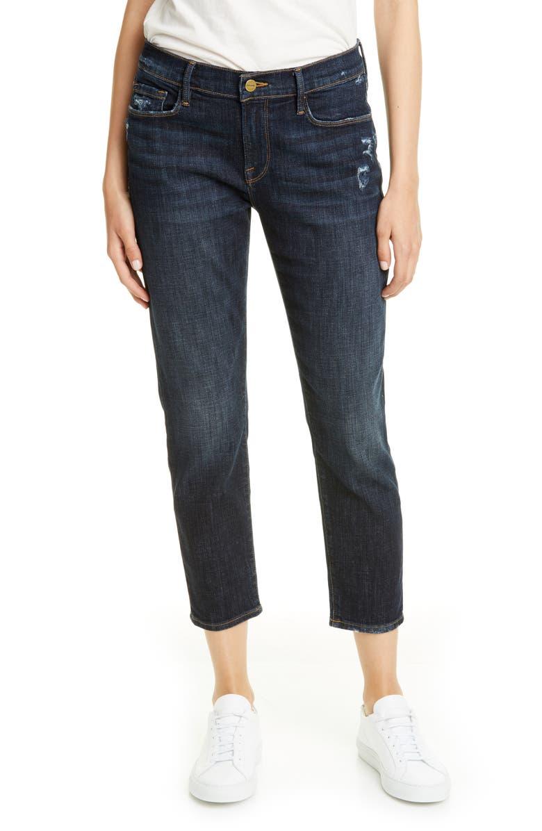 FRAME Le Garcon Crop Boyfriend Jeans, Main, color, COVANT