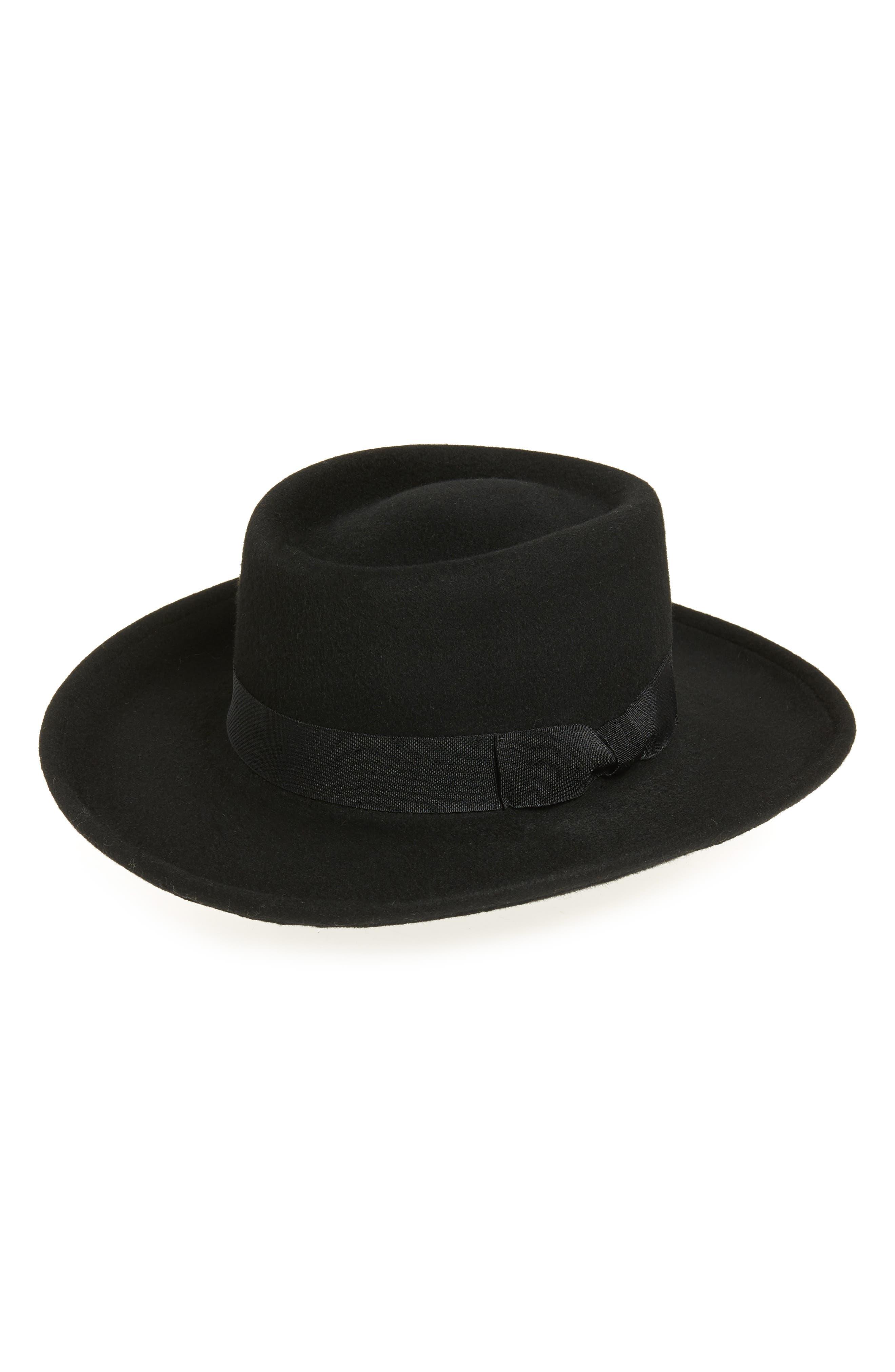 1920s Mens Hats & Caps | Gatsby, Peaky Blinders, Gangster Womens Eric Javits Planter Packable Wool Felt Hat - $215.00 AT vintagedancer.com