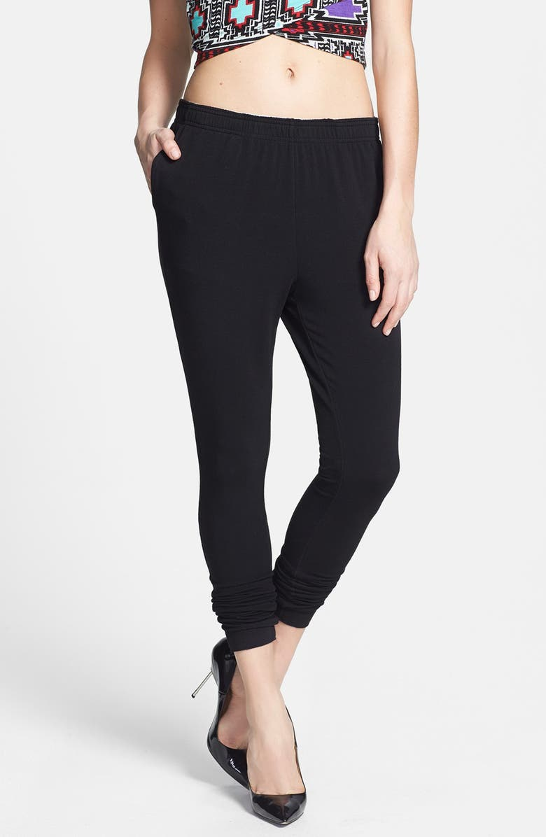 LEITH Skinny Leg Sweatpants, Main, color, 001