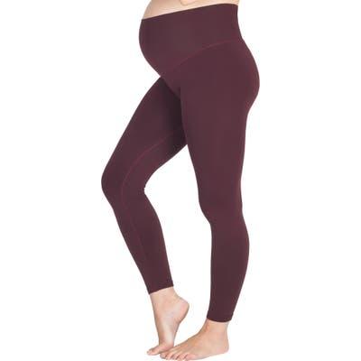 Modern Eternity Seamless Yoga Maternity Leggings, Burgundy
