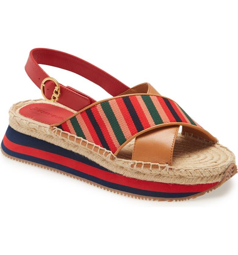 TORY BURCH Daisy Sport Sandal, Main, color, DESERT CAMEL/ MULTI