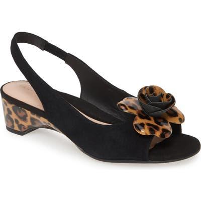 Taryn Rose Neva Slingback Sandal, Black