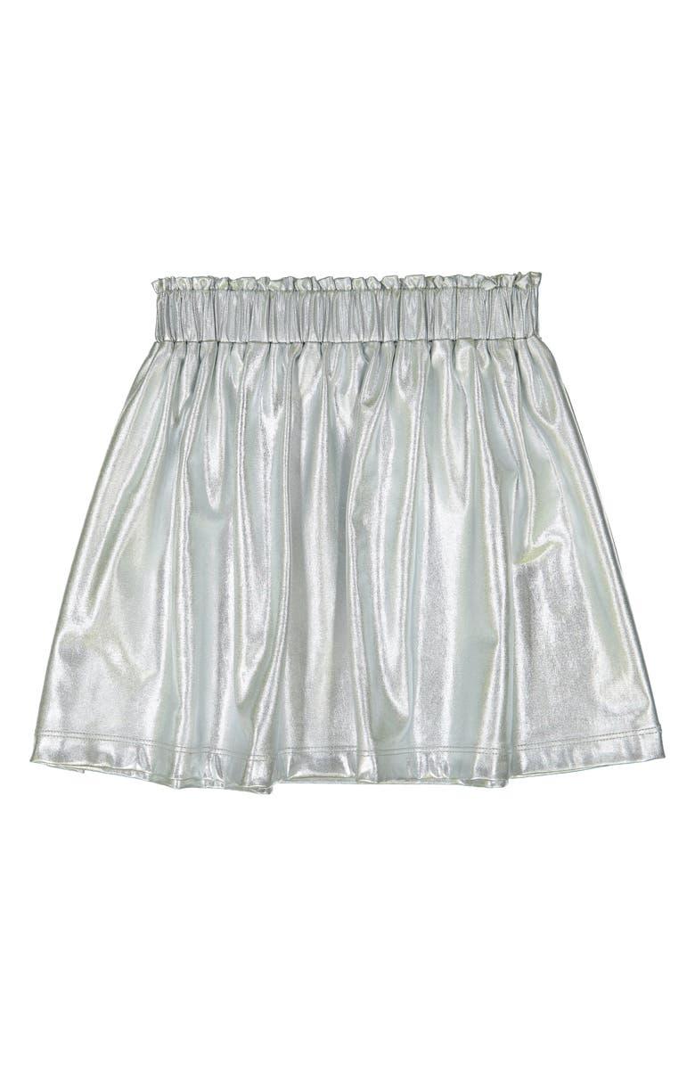 MASALA BABY Silver Metallic Skirt, Main, color, 040