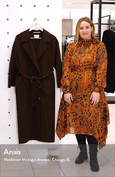 Loane Belted Double Face Wool & Silk Coat, sales video thumbnail