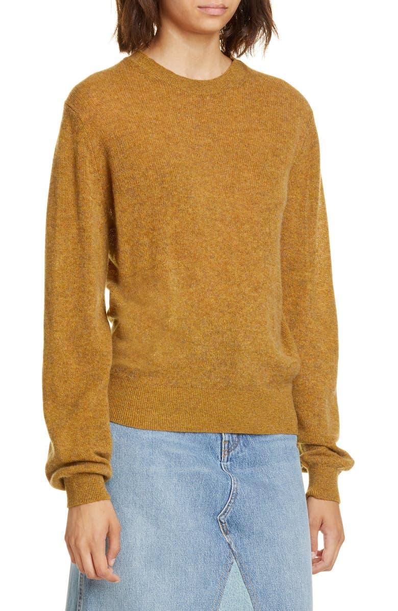 KHAITE Viola Cashmere Sweater, Main, color, FAWN