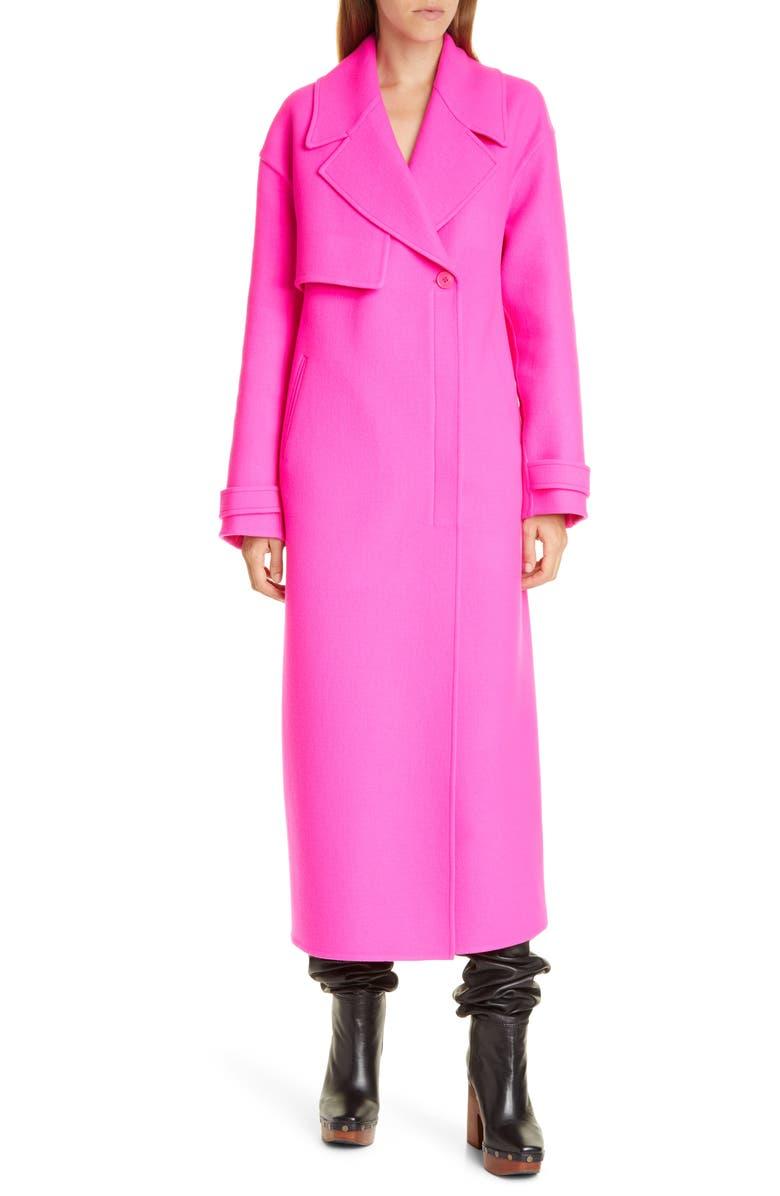 JACQUEMUS Le Manteau Sabe Long Trench Coat, Main, color, PINK