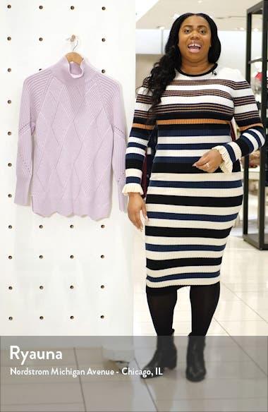 Basket Weave Turtleneck Sweater, sales video thumbnail