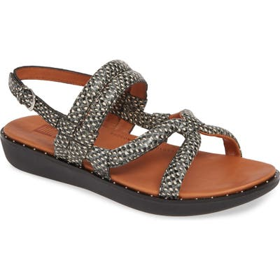 Fitflop Barely Dotted Snake Print Sandal, Black (Nordstrom Exclusive)