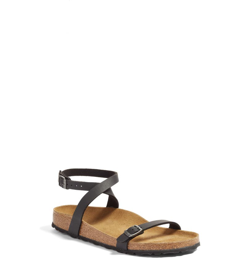 BIRKENSTOCK Daloa Ankle Strap Sandal, Main, color, BLACK