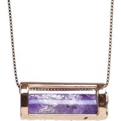 Conges Peace Of Mind Amethyst Barrel Pendant Necklace