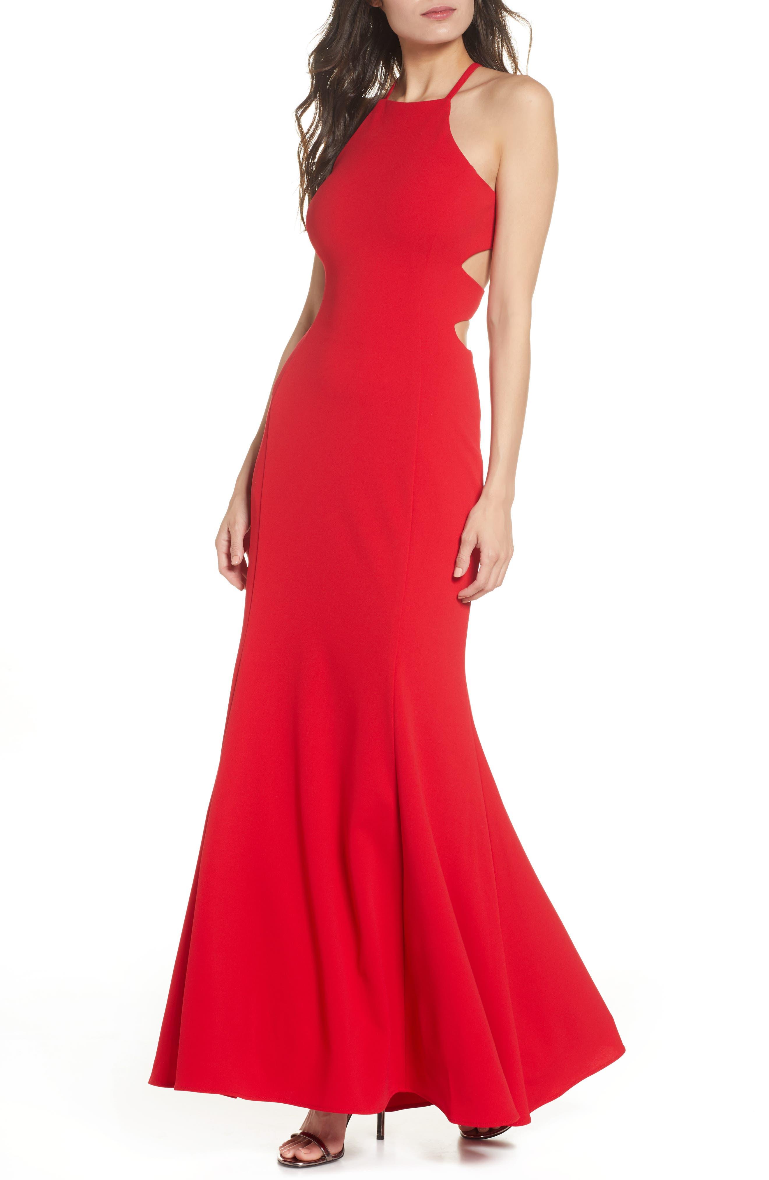 Morgan & Co. Scuba Trumpet Evening Gown, Red