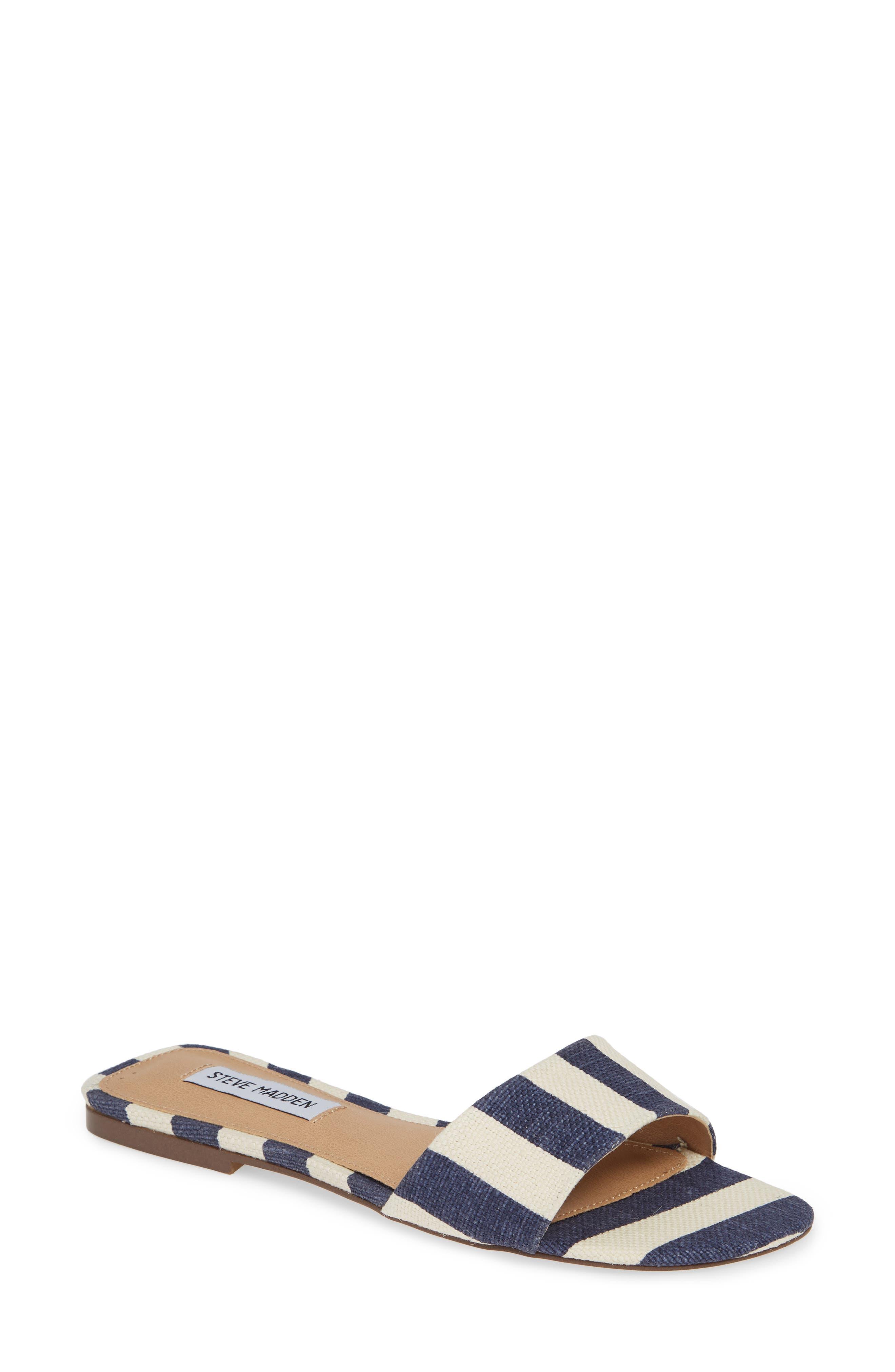Steve Madden Bev Slide Sandal- Blue