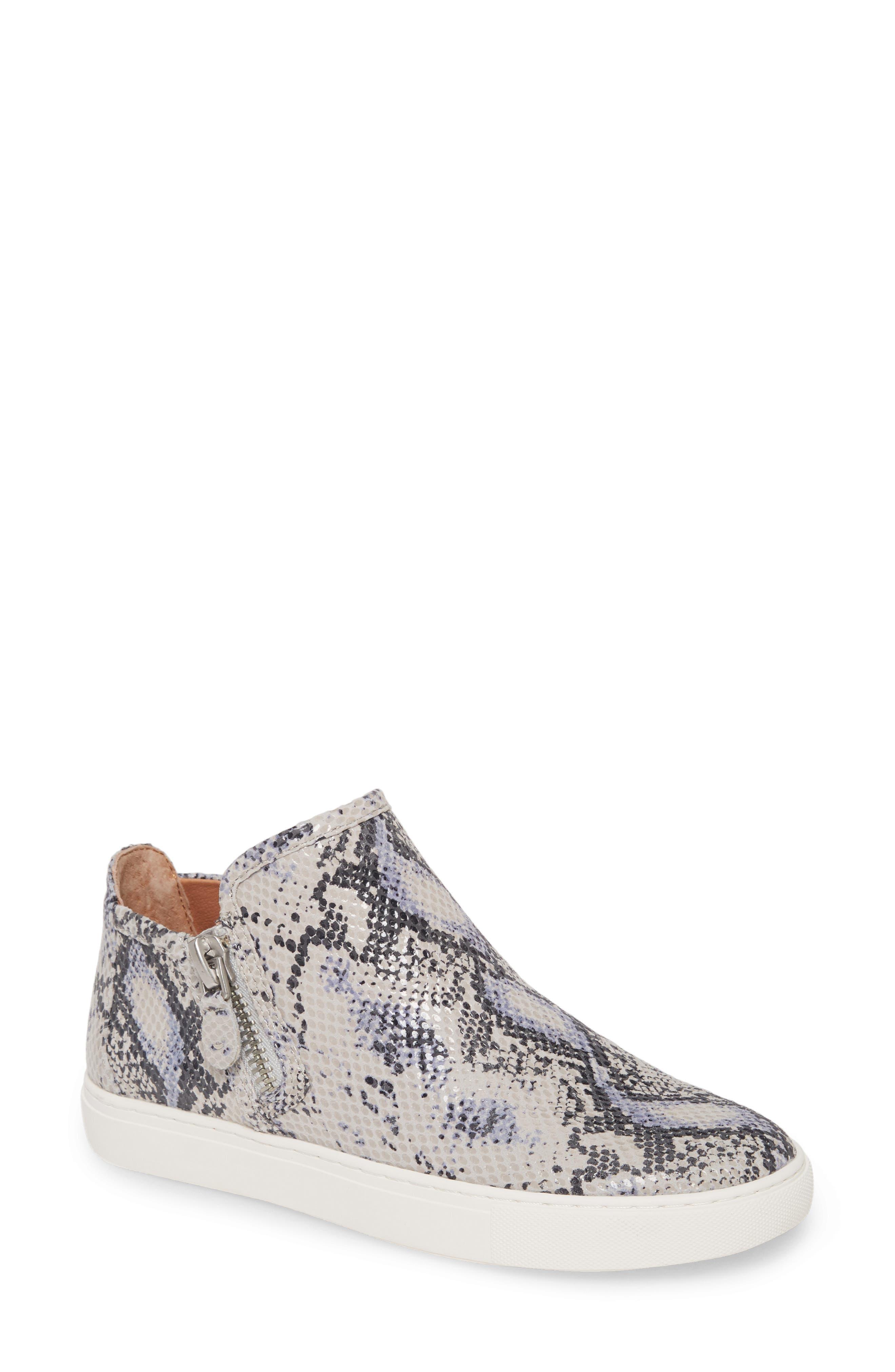 Lowe Snakeskin Embossed Leather Sneaker