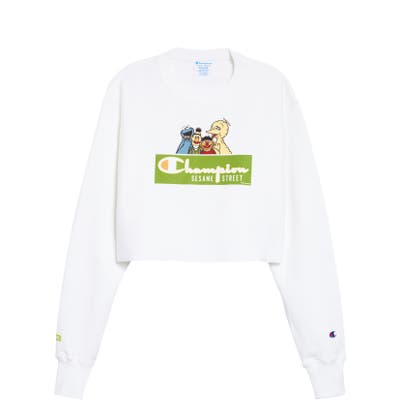 Champion X Sesame Street We Are Sesame Crop Sweatshirt