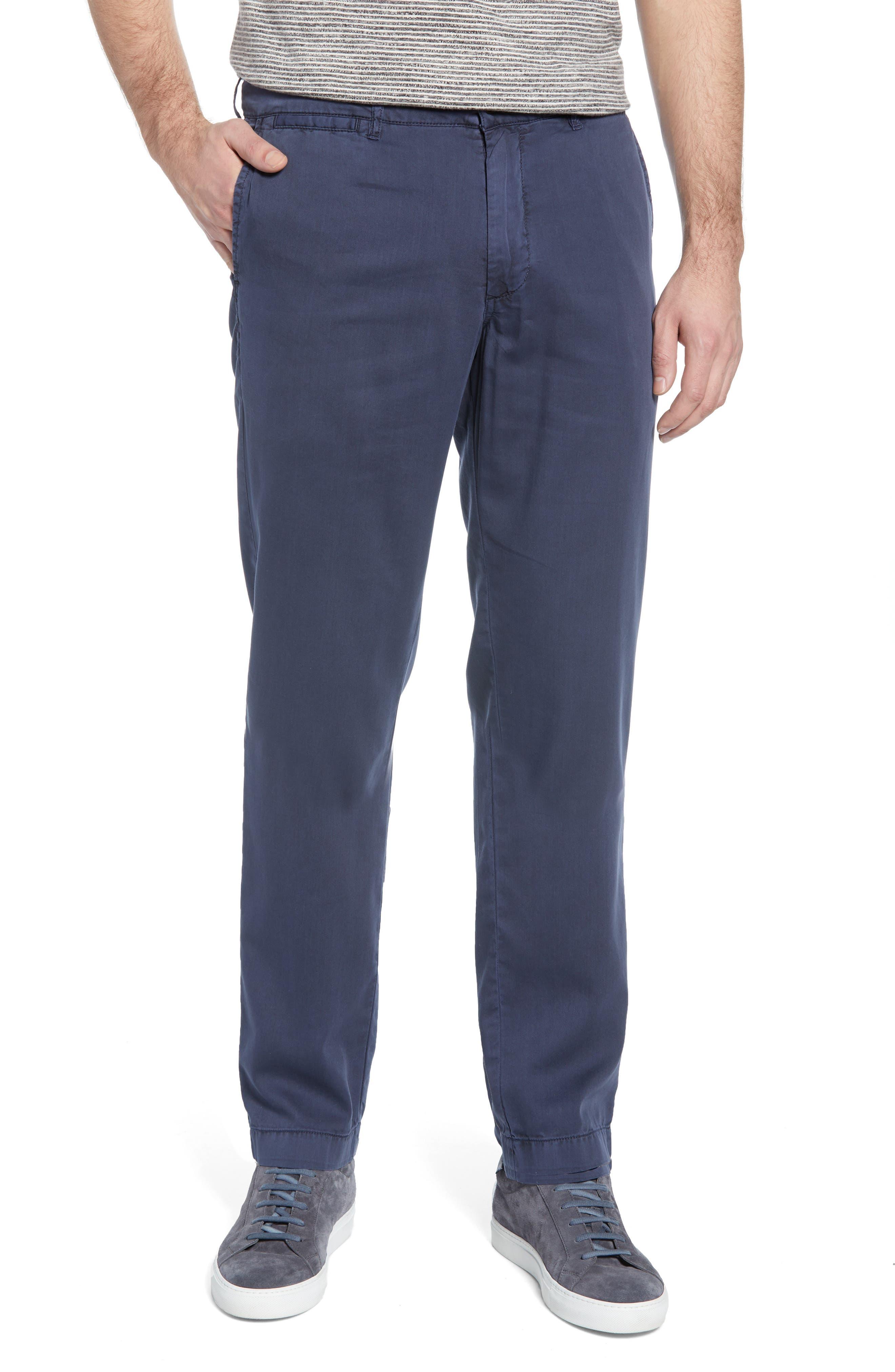 Faherty Harbor Straight Leg Pants, Blue